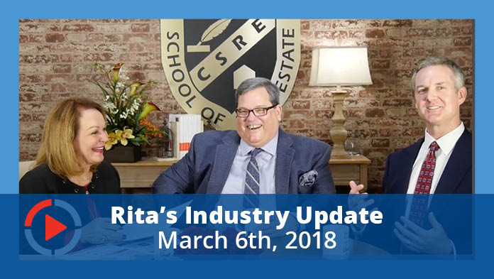 YouTube Thumbnail - Industry Update with Rita Santamaria March 6, 2018