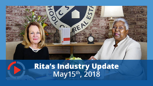 YouTube Thumbnail - Industry Update with Rita Santamaria - May 15, 2018